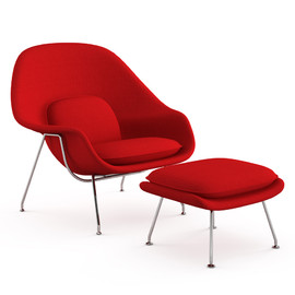 Knoll - Womb chair with Ottoman