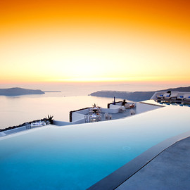 Grace Hotel - What an amazing swimming pool, Santorini, Greece
