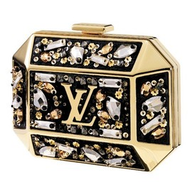 Louis Vuitton - Crystal Embellished Brass Clutch