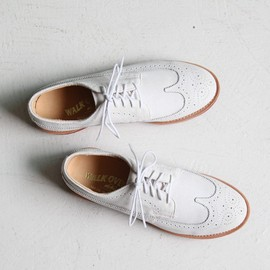 Walkover - Cambridge White Suede Brogues by Walkover