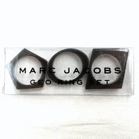 MARC BY MARC JACOBS - Plastic Ring Set Black