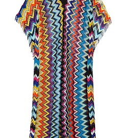 Missoni - Mare fringed crochet-knit kaftan