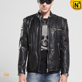 CWMALLS - Italian Leather Motorcycle Jackets for Men CW850216