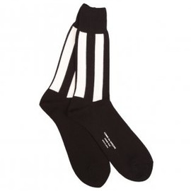 COMME des GARCONS - Stripe Socks Black and White