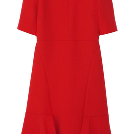 MARNI - Paneled wool-crepe dress