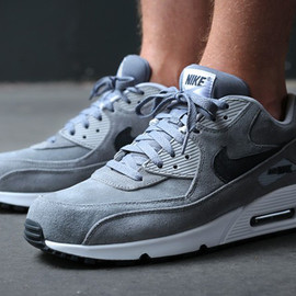 Nike - Air Max 90 Leather Premium - Cool Grey / Anthracite – Wolf Grey
