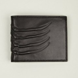 Alexander McQueen - Men's Vertebrae Leather Card Holder with Money Clip