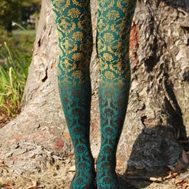 Shell Print Tights グレー