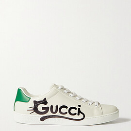 GUCCI - Ace printed faux leather sneakers