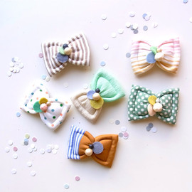 HOMAKO - Kid Friendly - Fuwa Bow Hair Clip