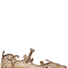 DOLCE&GABBANA - FW2014 METALLIC NAPPA LEATHER & MESH FLATS
