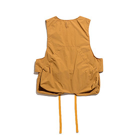 ENGINEERED GARMENTS - Fowl Vest-Acrylic Coated Nylon Taffeta-Mustard