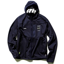 F.C.R.B - POLARTEC FLEECE ZIP UP GAITER HOODY / NAVY