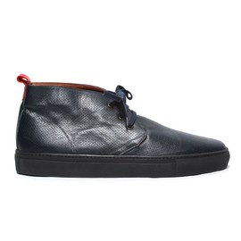 Del Toro - Alto Chukka - Perforated Navy Leather