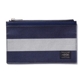 "HEAD PORTER - ""OXFORD"" POUCH GREY"