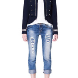 ZARA - JACKET WITH APPLIQUÉS ON COLLAR AND CUFFS