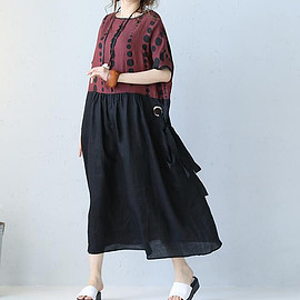 Loose dress - summer Wear it before and after long Women dresses Loose dress summer sundress