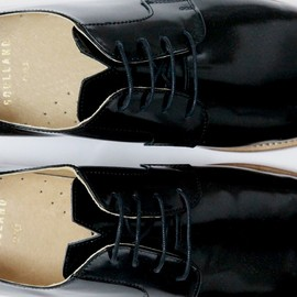 Soulland - PATENT DERBY W. LEATHER SOLE BLACK