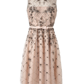 VALENTINO - EMBELLISHED MESH AND ORGANZA DRESS