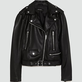 ZARA - FAUX LEATHER BIKER JACKET