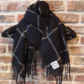 SUNSEA - Wool check Stole