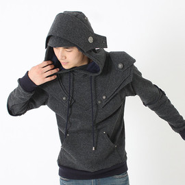 Patrick Knight  Medieval Armor Pullover Hoodie(100% Handmade Wool) Made To Order