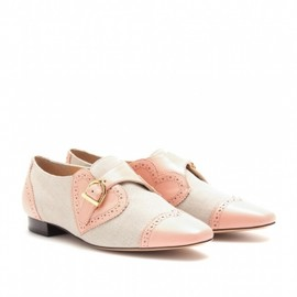 Charlotte Olympia - VALENTINE LEATHER AND CANVAS BROGUES