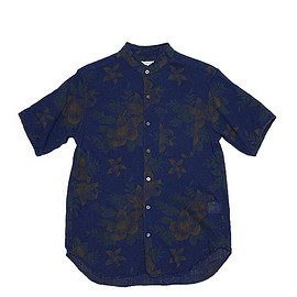 ENGINEERED GARMENTS - Copley Shirt-Floral Crape-Dk.Navy