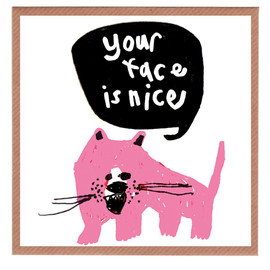 Lazy Oaf - Your face is nice Card