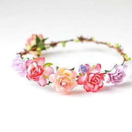 Headpiece: romantic floral circlet / rose crown