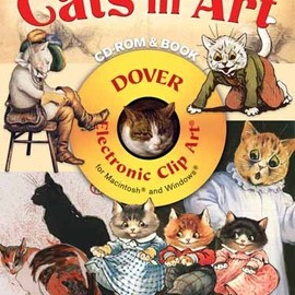 Alan Weller , Clip Art - Cats in Art CD-ROM and Book (Dover Electronic Clip Art)