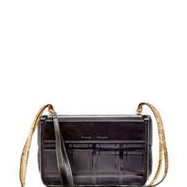 PROENZA SCHOULER - SS2015 Soft Calf, Python, And Window Pane Shiny Calf Z Crossbody