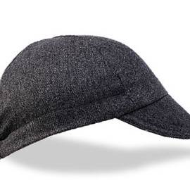 WALZ CAPS - Four Panel Grey Wool Cycling Cap