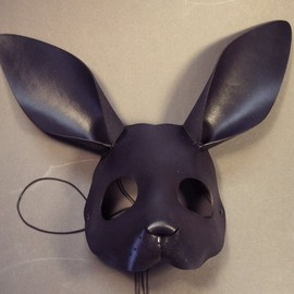 Tom Banwell Designs - Rabbit leather mask in black