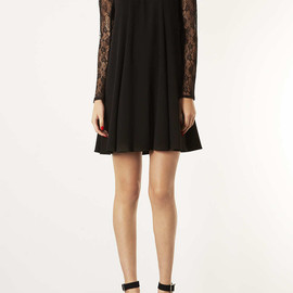 TOPSHOP - LACE SLEEVE SWING DRESS