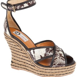LANVIN - wedge sandals