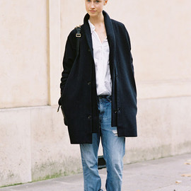 Paris Fashion Week SS 2013 - Swedish model Karin Hansson