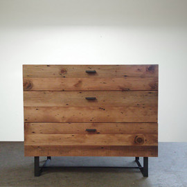 Coffee Table - Handmade with Naturally Fallen Wood and Reclaimed Steel