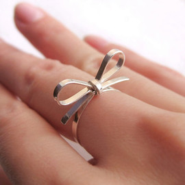 Bow Tie Sterling Silver Ring