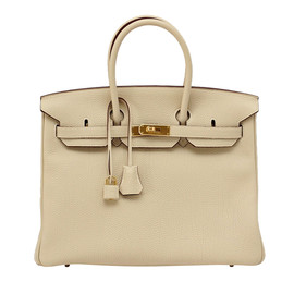 Hermes - BIRKIN 35 bag PARCHEMIN w/ Gold hardware Stunning Neutral