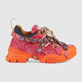 GUCCI - Women's Flashtrek sneaker with crystals