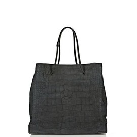 ALEXANDER WANG - PRISMA SKELETAL LARGE TOTE IN EMBOSSED INK WITH MATTE BLACK