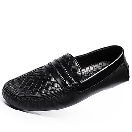 CWMALLS - CWMALLS Mens Black Leather Loafers CW706161