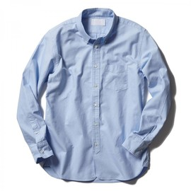 HEAD PORTER PLUS - Simplicity OXFORD SHIRT BLUE