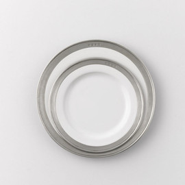 Pewter from ITALY - Pewter Rimmed Plate