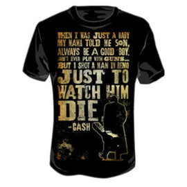 JOHNNY CASH / SHOT A MAN IN RENO / T-Shirts Tシャツ ジョニー・キャッシュ