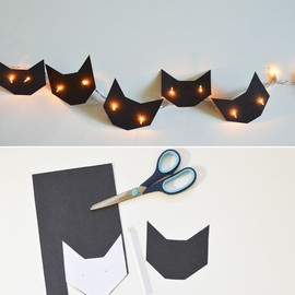 DIY: cats string lights for Hallowe'en, or for any day, really!!