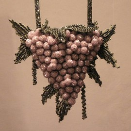APROSIO&CO - Crocheted bunch of grapes bag