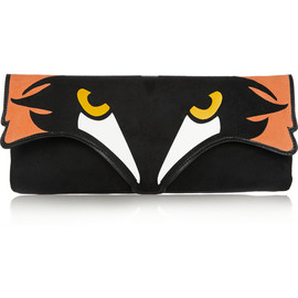 RED Valentino - Fox suede and leather clutch