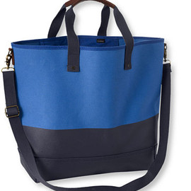 L.L.Bean - Nor'Easter Tote, Large Solid (Cobalt/Dark Navy)